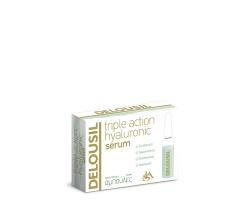 SJA Pharm Delousil Triple Action Hyaluronic Serum  Αμπούλες , Εντατικός Ενυδατικός Ορός περιέχει Yαλουρονικό οξύ τριών διαφορετικών μοριακών βαρών 2ml