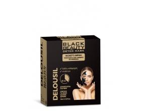 SJA Pharm Delousil Black Beauty Detox Mask Μάσκα Καθαρισμού Προσώπου με Ενεργό Άνθρακα, ιδανική για το βαθύ καθαρισμό και την ανανέωση της επιδερμίδας 10ml