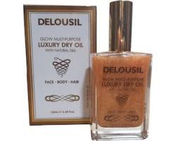 SJA Pharm Delousil Luxury Dry Oil with natural oils Λάδι χωρίς αίσθηση λιπαρότητας είναι ιδανικό για την περιποίηση σώματος ,προσώπου και μαλλιών 100ml