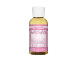 DR.BRONNER'S 18-IN-1 CHERRY BLOSSOM Pure Castile Soap Αγνό Υγρό Σαπούνι με υπέροχο άρωμα κεράσι 60ml