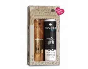 Messinian Spa Premium Line Shimmering Shower Gel Βασιλικός Πολτός & Ελίχρυσος 300ml & Shower Gel Black Truffle Αφρόλουτρο 300ml