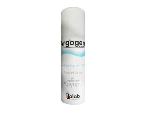 Uplab Argogen spray Iατροτεχνολογικό σπρέυ ιοντικού αργύρου σε σκόνη 2,5% με ζεόλιθο, για την αποστείρωση, περίθαλψη, θεραπεία και επούλωση των οξέων και χρόνιων τραυμάτων και πληγών 125ml