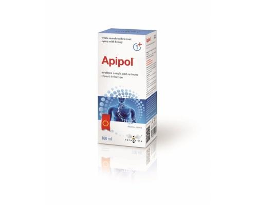 Uplab Apipol Ιατροτεχνολογικό σιρόπι με έμβρεγμα λευκής ρίζας Marshmallow, εκχύλισμα πρόπολης και μέλι 100ml