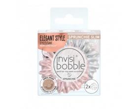 Invisibobble Sprunchie Slim Bella chrome Ρόζ-Μπέζ, 2 τεμάχια