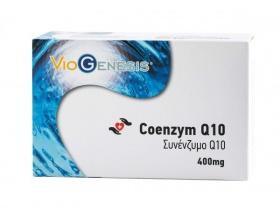 VIOGENESIS Coenzyme Q10 400 mg Συμπλήρωμα διατροφής προάγει την εύρυθµη λειτουργία της καρδιάς καθώς και του καρδιαγγειακού συστήµατος 60 softgels
