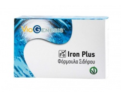 VIOGENESIS Iron Plus Φόρμουλα δισγλυκινικού και θειικού σιδήρου με μέταλλα και βιταμίνες 30 caps