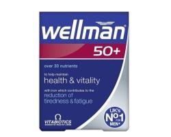 Vitabiotics Wellman 50+ 30tabs, Συμπλήρωμα διατροφής με μια μοναδική σύνθεση 31 θρεπτικών συστατικών, ειδικά σχεδιασμένη για άντρες άνω των 50 ετών