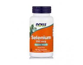 Now Foods Selenium 200 mcg Glycinate, Αντιοξειδωτικό Συμπλήρωμα από Σελήνιο, για την Προστασία από τα Βαρέα μέταλλα & τις Εκφυλιστικές παθήσεις, Προάγει την Ενίσχυση του Θυρεοειδούς Αδένα 90 Vcaps