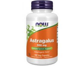 Now Foods Astragalus 500 mg, Συμπλήρωμα Διατροφής που λειτουργεί ως φυσικό τονωτικό και βοηθάει στη μείωση του στρες, 100 κάψουλες