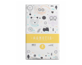 Agnotis Baby, Βρεφικές Πάνες No2 (3-6 Kg), 42 τμχ
