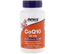 Now Foods CoQ10 30 mg Vegetarian, Συμπλήρωμα Διατροφής που στηρίζει την υγιή λειτουργία του καρδιαγγειακού και ανοσοποιητικού συστήματος, 120 κάψουλες