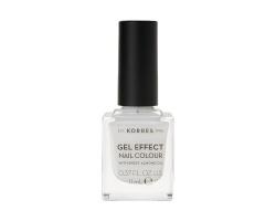 Korres Gel Effect Nail Colour No.1 Blanc White Βερνίκι Νυχιών, 11ml