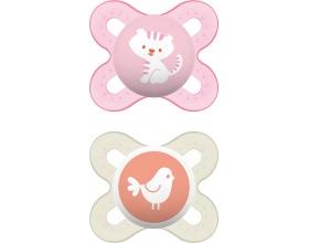 MAM Start 125S, Πιπίλα για το Νεογέννητο 0-2 μηνών, ρόζ-λευκό, 2 τμχ