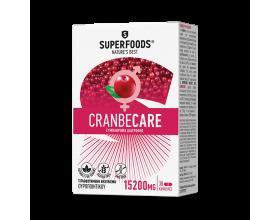 Superfoods Cranbecare 15200mg Συμπλήρωμα Διατροφής για λοιμώξεις του Ουροποιητικού Συστήματος, 30caps