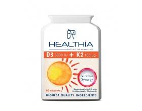 Healthia D3 3000iu Κ2 100mcg, 90caps