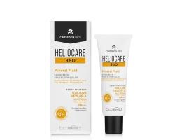 Heliocare 360 Mineral Fluid SPF50+ Αντηλιακό Προσώπου για Ευαίσθητο-Δυσανεκτικό Δέρμα, 50ml