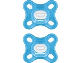 Mam Comfort 0-2m, Πιπίλα Όλο Σιλικόνη με Ενιαίο Σχεδιασμό, 126S Χρώμα Μπλε, 2τμχ