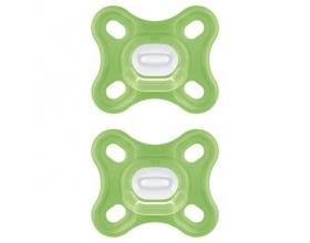 Mam Comfort 0-2m, Πιπίλα Όλο Σιλικόνη με Ενιαίο Σχεδιασμό, 126S Χρώμα Πράσινο, 2τμχ