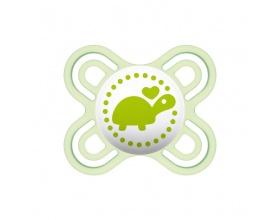 Mam Perfect Start, Πιπίλα Σιλικόνης για Βρέφη 0-2m, Ειδικά Σχεδιασμένη για να Μειώσει τον Κίνδυνο των Στραβών Δοντιών, Πράσινο,128S,  1τμχ