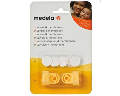 Medela Multipack Valves & Membranes, Σέτ Βαλβίδες 2τμχ & Μεμβράνες 6τμχ, 800.0727, 1σέτ.