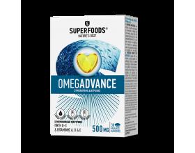 Superfoods Omegadvance 500mg Συμπλήρωμα Διατροφής με Ιχθυέλαιο Υψηλής Ποιότητας, 30caps