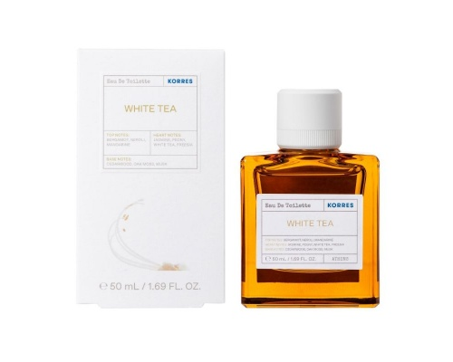Korres White Tea Eau De Toilette Γυναικείο Άρωμα Λευκό Τσάι, 50ml