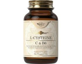 Sky Premium Life L-Cysteine Vitamins C & B6 Συμπλήρωμα Διατροφής με Αντιοξειδωτική Δράση & Ενισχύει το Ανοσοποιητικό, 60tabs