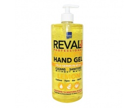 Intermed, Reval Plus Lemon Antiseptic Hand Gel, Άμεση αντιβακτηριδιακή προστασία χωρίς τη χρήση νερού ή σαπουνιού, 1Lt