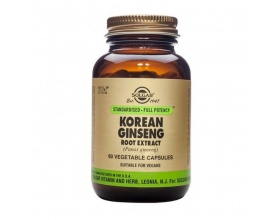 Solgar Korean Ginseng Root Extract Κορεάτικο Τζίνσενγκ για Ενέργεια & Τόνωση του Οργανισμού Ιδανικό ως Ανδρικό Αφροδισιακό, 60vegcaps