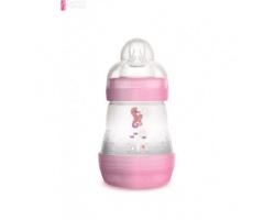 Mam Anti-Colic 350s, Mπιμπερό κατά των κολικών, με θηλή από Σιλικόνη, από 0+ μηνών, Θηλή-μετάξι από σιλικόνη, Μικρή ροή χρώματος Ροζ 160ml