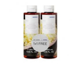 Korres Renewing Body Cleanser Mastic Αφρόλουτρο Μαστίχα  2x250ml