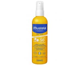 Mustela, Bebe High Protection Sun Spray, Βρεφικό-Παιδικό Αντηλιακό για Πρόσωπο &Σώμα, SPF50 200ml.