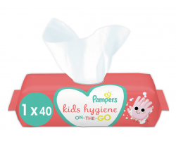Pampers Κids, Παιδικά Απολυμαντικά Μαντηλάκια, Hygiene On-the-go, 40 τμχ.