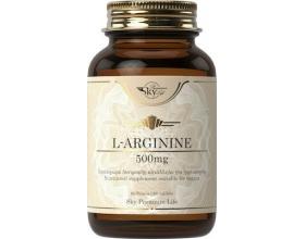 Sky Premium Life L-Arginine 500mg Συμπλήρωμα Διατροφής με Αμινοξύ L-Αργινίνη που Είναι Δομικό Στοιχείο των Πρωτεϊνών 60tabs