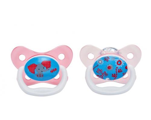 Dr. Brown's, 22402 Prevent, Ορθοδοντική Πιπίλα Σιλικόνης για βρέφη 6-12 μηνών, Ειδικά σχεδιασμένη για τη σωστή στοματική ανάπτυξη του αναπτυσσόμενου μωρού, χρώμα ροζ, 2τεμ
