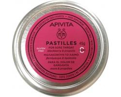 APIVITA Pastilles, Παστίλιες για το λαιμό, μαλακώνουν το λαιμό και το βήχα με βατόμουρο & πρόπολη 45g