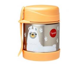 3 Sprouts Food Jar & Spork, Ανοξείδωτος Θερμός Φαγητού με Κουταλοπίρουνο, Lama, 350ml.