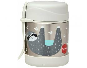 3 Sprouts Food Jar & Spork, Ανοξείδωτος Θερμός Φαγητού με Κουταλοπίρουνο, Sloth, 350ml.