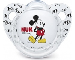 Nuk Disney, Ορθοδοντική Πιπίλα Σιλικόνης 0-6m, Χρώμα Διάφανο-Λευκό, Nr. 10.729.717, 1τμχ