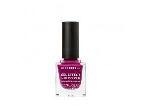 Korres Gel Effect Nail Colour 72 Cherry Brandy Rose, 11ml