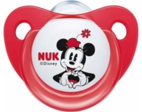 Nuk Disney, Ορθοδοντική Πιπίλα Σιλικόνης 0-6m, Χρώμα Κόκκινο-Λευκό, Nr. 10.729.717, 1τμχ