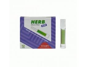 Vican Herb Micro Filter Slim 12 Πίπες, Πίπα με φίλτρο απο φυτικά εκχυλίσματα και ένζυμα για τσιγάρα slim
