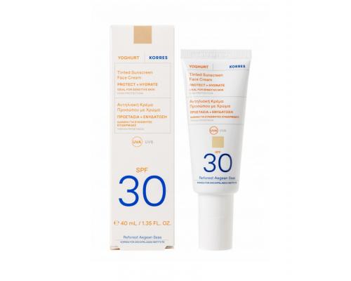 Korres Yoghurt Sunscreen Face Αντηλιακή Κρέμα Προσώπου με Χρώμα SPF30, 40ml