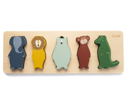 Trixie Wooden Shape Puzzle, Ξύλινο Πάζλ με Ζωάκια, 12m+, 1τμχ.