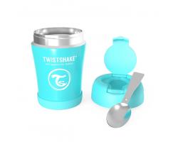 Twistshake Stainless Steel Food Container, Θερμός Φαγητού από Ανοξείδωτο Ατσάλι με Κουταλάκι, Χρώμα Μπλε, 350ml.