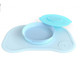 Twistshake, Suction Mat &Plate &Lid, Αντιολισθητικό Σουπλά με Αποσπώμενο Πιάτο, Χρώμα Μπλέ, 78440, 1τμχ.