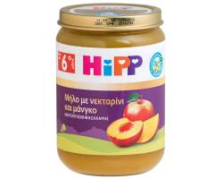 Hipp, Βρεφικό Γεύμα Φρούτων Μήλο, Νεκταρίνι &Μάνγκο, από τον 6ο Μήνα, Χωρίς Προσθήκη Ζάχαρης, 190gr.