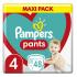 Pampers, Pants Maxi Pack No 4 9-15kg, Πάνες Βρακάκι, 48τεμ.
