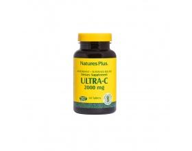 Nature's Plus, Ultra C 2000 mg Rose Hips, Βιταμίνη C με Καρπούς Αγριοτριανταφυλλιάς, Επιταχύνει & Μεγιστοποιεί την Απορρόφηση & την Αποτελεσματικότητα της Βιταμίνης C,  60 tabs