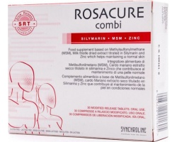 Synchroline Rosacure Combi Συμπλήρωμα Διατροφής  είναι κατάλληλο για συγκεκριμένες καταστάσεις του δέρματος, όπου απαιτείται αναπλήρωση αντι-οξειδωτικών, θρεπτικών στοιχείων 30 tabs